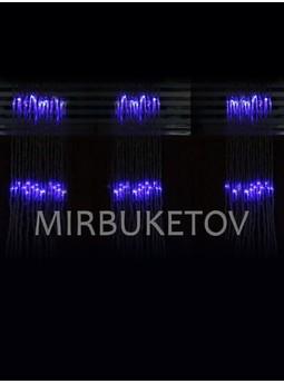 Гирлянда-водопал LED синяя 300 ламп, 3x1 м, LEDBlue-T