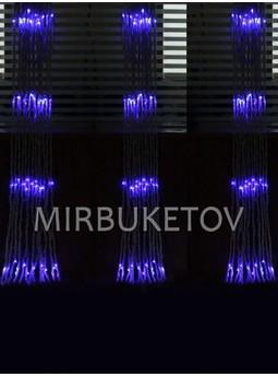 Гирлянда-водопад LED синяя, 560 ламп, 3x2 м, WL560BL32-T