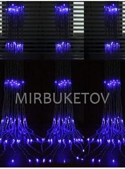 Гирлянда-водопад LED синяя, 560 ламп, 3x3 м, WL560BL33-T