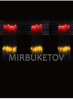 Гирлянда-водопад LED разноцветная, 300 ламп, 3x1 м, WL300ML31-T