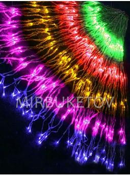 Гирлянда-водопад LED разноцветная, 300 ламп, 2x2 м, WL300ML22-T