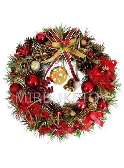 """Рождественский венок """"Звездная ночь"""", 32 см, AW001"""