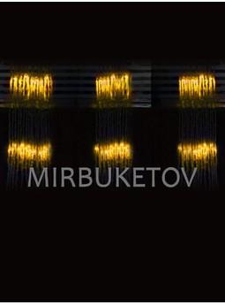 Гирлянда-водопад LED желтая, 300 ламп, 3x1 м