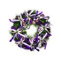 """Рождественский венок """"Фиолетовые банты"""", 32 см"""