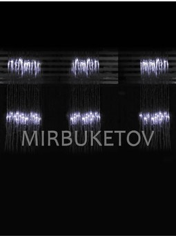 Гирлянда-водопад LED холодная белая, 300 ламп, 3x1 м, WL300WH31-T