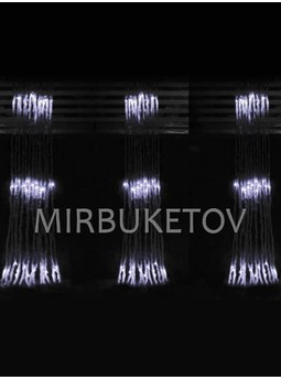 Гирлянда-водопад LED холодная белая, 300 ламп, 2x2 м, WL300WH22-T