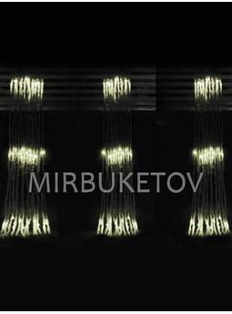 Гирлянда-водопад LED теплая белая, 300 ламп, 2x2 м