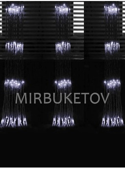 Гирлянда-водопад LED холодная белая, 560 ламп, 3x2 м, WL560WH32-T