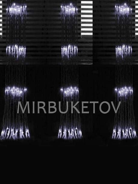 Гирлянда водопад LED холодная белая, 560 ламп, 3x2 м