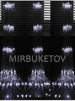 Гирлянда водопад LED холодная белая, 560 ламп, 3x3 м