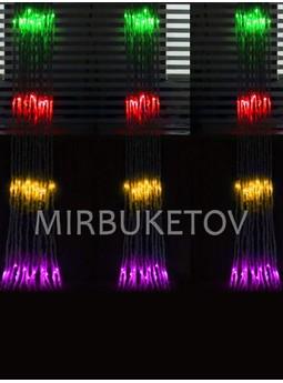 Гирлянда-водопад LED разноцветная, 560 ламп, 3x2 м, WL560ML32-T