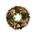 """Рождественский венок """"Золотые листья"""", 32 см"""