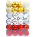 Колба 16 елочных новогодних шаров, 60 мм