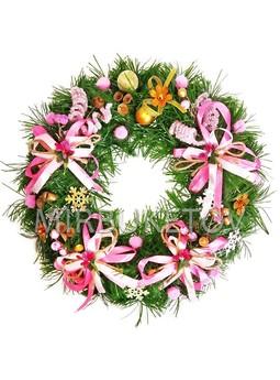 """Рождественский венок """"Розовые сны"""", 32 см, AW011"""