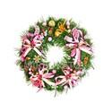 """Рождественский венок """"Розовые сны"""", 32 см"""