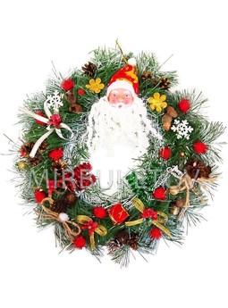 "Рождественский венок ""Санта-2"", 32 см, AW012"