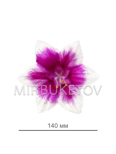 Искусственные Пресс цветы со вставкой Орхидея, атлас, 140 мм