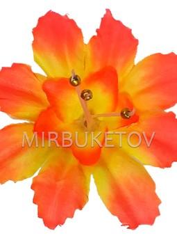 Пресс-цветок Звездочка с тычинкой бусинкой, 90 мм, A111