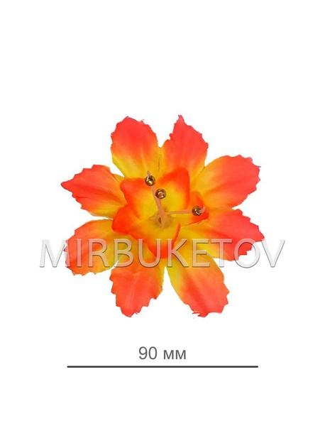 Искусственные Пресс цветы с тычинкой бусинкой Звездочка, 90 мм