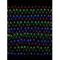 Гирлянда сетка LED разноцветная, 120 ламп, 1.5x1.2 м, соединяемая