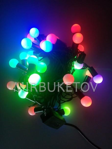"""Гирлянда """"Шарики"""" LED разноцветная, 28 ламп"""