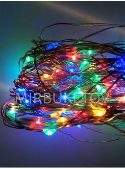 Гирлянда проволочная LED разноцветная, 100 ламп, L100ML-T