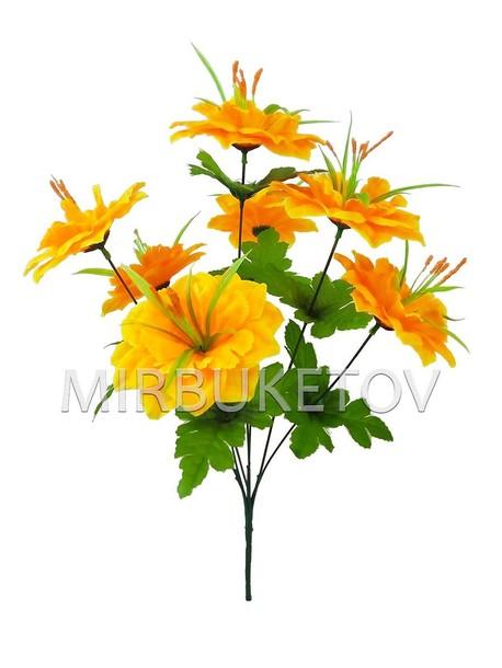 Искусственные цветы Букет Китайского Пиона, 7 голов, 470 мм