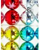 """Елочные шары 6 шт в колбе """"Острые снежинки"""", микс, 80 мм, BAS13"""