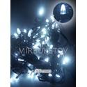 Гирлянда LED холодный белый, 500 ламп свеча, черный шнур