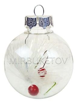 Елочный шар пластиковый прозрачный