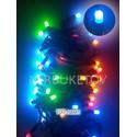 Гирлянда LED разноцветная, 100 ламп рисинок, черный шнур