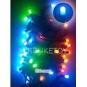 """Гирлянда LED разноцветная, 500 ламп """"рис"""", черный шнур, LED500ML-BR"""