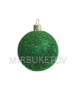 "Елочный шар ""Блестки"", зеленый, 60 мм, Cx5"