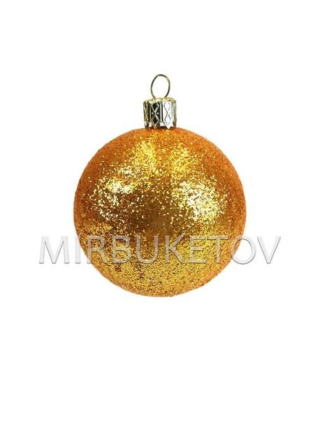 "Елочный шар ""Блестки"", бронзовый, 60 мм"