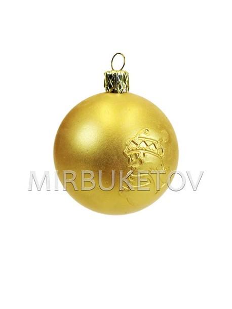 """ТОП! Елочный шар """"Снеговик"""", золотистый мат, 60 мм"""