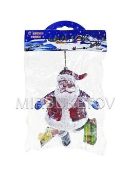 """Новогоднее украшение """"Дед Мороз с подарками"""", 110 мм, 83n"""