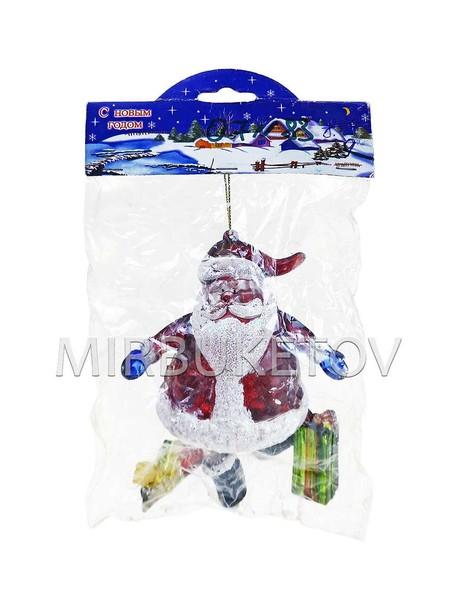 """Новогоднее украшение """"Дед Мороз с подарками"""", 110 мм, Уценка"""