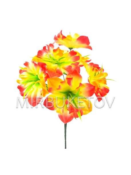 Искусственные цветы Букет Нарцисса, 7 голов, 420 мм