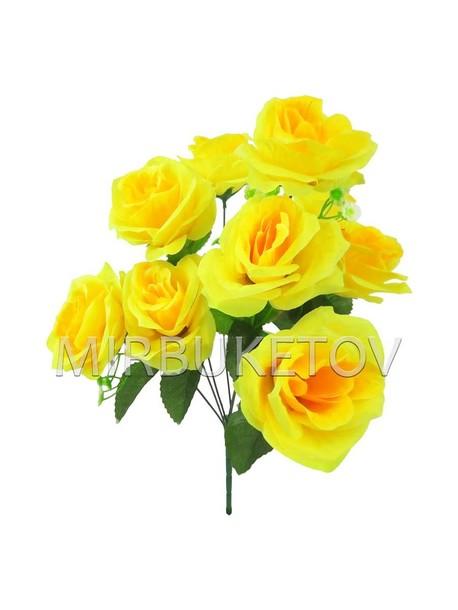 Искусственный букет Розы, 9 голов, 440 мм, Md867