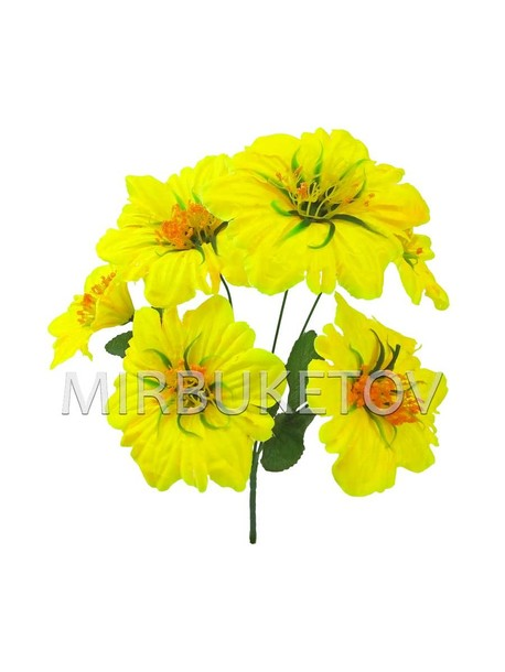 Искусственные цветы Букет Клематиса, 6 голов, 340 мм