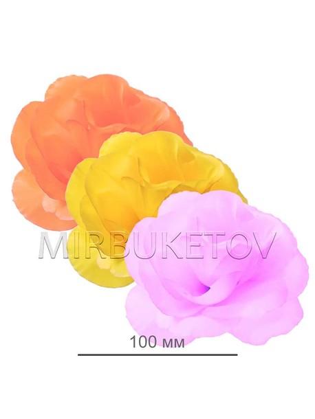 Искусственные цветы Роза открытая, шелк, 100 мм