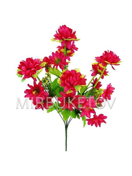 Искусственные цветы Букет Хризантемы, 21 голова, 460 мм