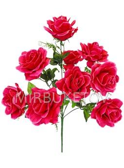 Букет искусственной Розы, 9 голов, 570 мм, Md871
