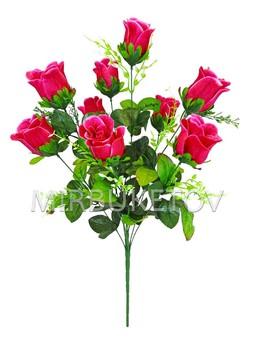 Букет искусственной Розы, 9 голов, 610 мм, Md888