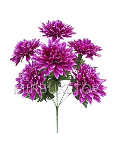 Искусственные цветы Букет Георгины, 7 голов, 480 мм