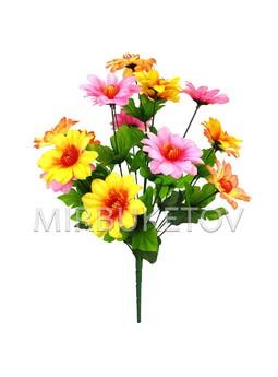 Искусственные цветы Букет Крокуса разноцветного, 18 голов, 460 мм
