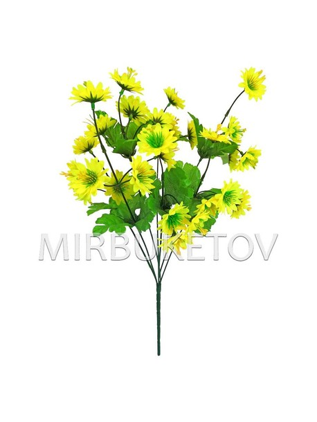 Искусственные цветы Букет Астры- Ромашки, 28 голов, 430 мм