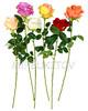 Искусственные цветы Премиум роза на ножке, 710 мм