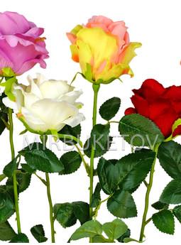 Искусственная роза на ножке, 710 мм