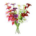 Искусственные цветы Премиум Лилия на ветке, 950 мм